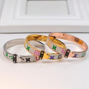 Luxo Designer Jóias Mulheres Pulseiras Moda de Nova pulseira de couro dos homens de alta qualidade de aço inoxidável Bangle Pulseiras Jóias