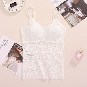 Summer sexy camisole female wrapped chest anti-light Tube top underwear lace bottoming belt chest pad vest one size