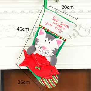 Large Christmas Stocking Sock Gift Holder Christmas Tree Decoration New Year Gift Bags Candy Bags