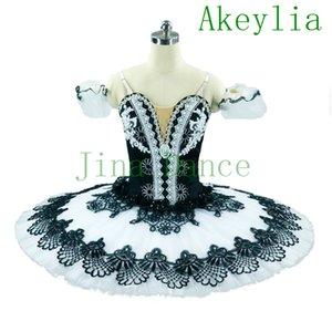 Adult Professional Ballet Tutu Black White Nutcracker Ballerina Pancake Performance Ballet Tutu Harlequin Classical Ballet Pancake Tutu
