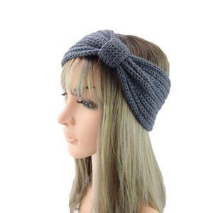 Tricoté hiver Bandeau pour femmes filles oreille chaud Knot Hairband 28 couleurs Lady crochet large stretch Headwrap Accessoires cheveux