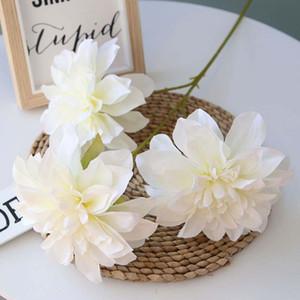 Spot Supply Of 3 Sets Of 5-Color 14cm Diameter Dahlia High-End Wedding Road Detonating Decorative Simulation Fake Flowers