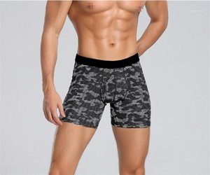 Underpants Fashion Designer Quick Drying Male Underwear Geometric Printed Mens Boxers Sports Skinny Low Waist Mens