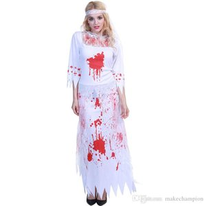 The Phantom Bride Halloween Costumes New Fashion Halloween Scary Jumpsuit Props Long Sleeve Full Party Stagewear