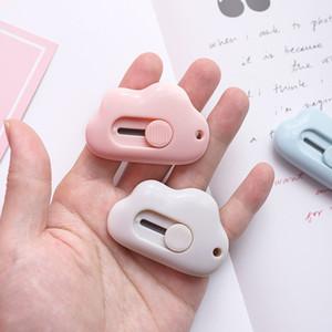 Couleur Nuage Mignon Mini Couteau Portable Coupeurs de papier massicots Bureau de lame de rasoir papeterie de coupe