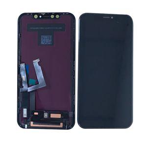 عرض LCD الأصلي لشاشة تعمل باللمس فون XR مع الجمعية التحويل الرقمي قطع الغيار الأسود الشحن عالية الجودة مجانا