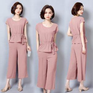 YICIYA 2019 розовый 2 шт комплект одежды спортивный костюм комплект спортивной одежды для женщин плюс размер большой большой XXXL 4XL 5XL летняя одежда