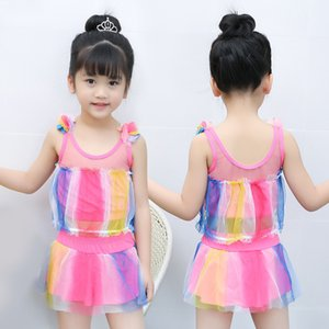 Girls Two Pieces Suits For Swimming Children Swimwear Kids Bathing Suit Swim Wear Big Girl Swimsuits baby pige badedragt