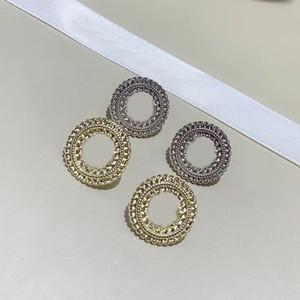 1.5 CM Moda C mektup alaşım gümüş iğne kulak süsleme ile hediye kutusu, bayanlar koleksiyonu için lüks tasarım küpe takı parti hediye