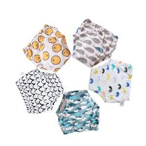 Calças 5Pcs reutilizável bebê Crianças fralda de pano fraldas laváveis Crianças Bebés Cotton Potty Treinamento fraldas Toilet Training