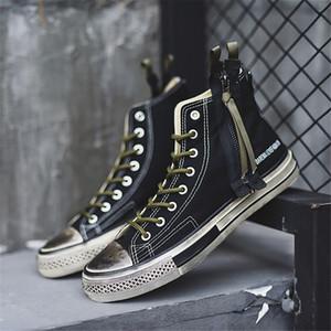 Erkekler Moda Denim Eski plimsolls% 50 Casual Kurulu Ayakkabı Ulzzang Sağlam Amerikan Sıkıntılı Sneakers Ufacık Bilek Boot Tuval Ayakkabı Sonbahar