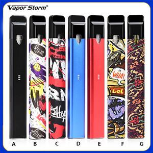 Sigarette Kit Kit E Sigarette Vapor Storm autentiche Vapor Kit Batteria 400mAh 1.8ml Cartucce ricaricabili Vape Vaporizzatore Pod 7 colori