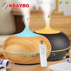 KBAYBO 550ml USB Увлажнитель воздуха Арома диффузор дистанционного управления 7 цветов Изменение светодиодные фонари охладиться создатель тумана очиститель воздуха для дома