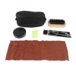4 Pz Unisex Shoe Care Kit professionale di viaggio Scarpe Stivali lustro corredo della spazzola