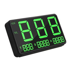 """Motosiklet Kamyon Araba HUD için hız Alarmı C80 Büyük Ekran 4.5"""" Head-up Display GPS Kilometre Dijital Araç Hız Gösterge"""