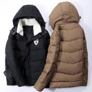 Chaquetas gruesas de diseñador para hombre Chaqueta gruesa de lujo de color sólido Chaqueta de bordado de moda para mujer Ropa de invierno 4 colores M-3XL para venta al por mayor