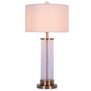 Moderna minimalista lámpara de mesa de luz cristal salón de noche del hotel sala de escritorio modelo nórdico lámpara LR002