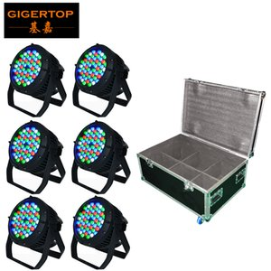 54 x 3W RGBW Su Geçirmez Par Işık DMX Kontrol 90V-240V LED Noel Işık Dekorasyon Ağacı Yıkama Işık Ambalaj 6in1 Yol Kılıf
