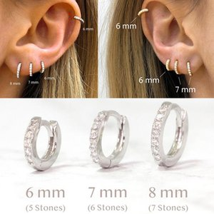 Small Studing Earrings 925 Sterling Silver Circle Round Earrings for Women Men Party Wedding Ear Ring Charm Jewelry