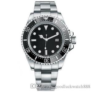 Top séries de plongée design maître montre 116660 acier inoxydable mécanique automatique noir bleu 44mm montre de plongée
