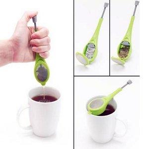 infuser الشاي الغطاس المدمج نكهة صحية قابلة لإعادة الاستخدام كيس الشاي البلاستيك الشاي القهوة مصفاة قياس دوامة حاد ضجة الصحافة