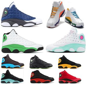 Nike Air Jordan Retro 13 mujeres de los hombres zapatos de baloncesto Singles Aurora verde Zona de juegos Día inversa Una mala jugada retroJordán13 zapatillas deportivas
