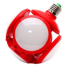 LED Football Light Garage Light 40W Football Deformable LED Garages Light Bulbs with 4 Adjustable Panels for Living Room Basement Auto Shops