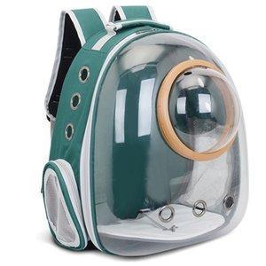 Atacado do espaço do astronauta Transparente Bolha Cápsula viagem Transportadora Cat Dog Pet Backpack Cat Pet Para