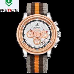WEIDE luxe Montre Homme Bande européenne Nylon 3 Yeux de haute qualité d'eau Montre Homme Relogio Masculino Sport numérique numéral Watch Date
