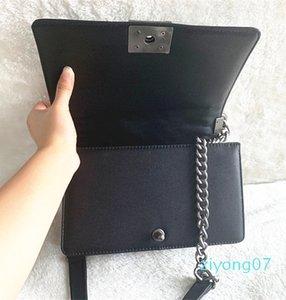 La catena di borsa Borse del progettista delle donne Plaid borsa catena Flap Classic di alta qualità borsa di cuoio reale della borsa di Crossbody spalla Messenger Bag 25 z07z