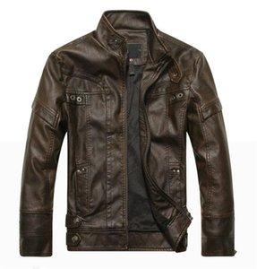 Autumn men motorcycle leather jacket men's leather jacket jaqueta de couro masculina mens jackets coats