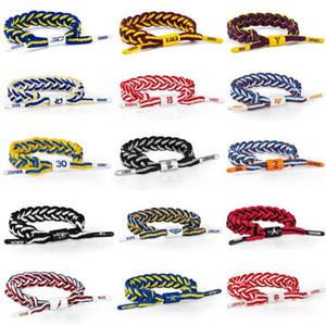 Moda Na Moda Esportes de Basquete Cadarço Pulseira Pulseiras Trançado Corda Pulseira Para Homens e Mulheres Frete Grátis