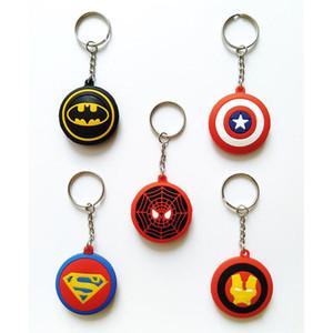 juguetes para niños Las cadenas Vengadores colgante Superman Capitán América Deadpool hombre araña super héroe de goma clave regalos llavero Niños