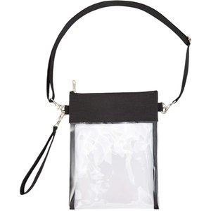 Clear Cross-Body Purse Bag Clear Stadium Bag Approved for Concert,Casino, Purse with Adjustable Strap