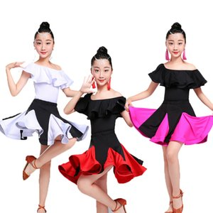 Latin Dans Elbise İçin Kız Çocuk çaça Tango Ballroom Dancing Elbise Rekabet Kostümler Çocuklar Uygulama Dans Giyim