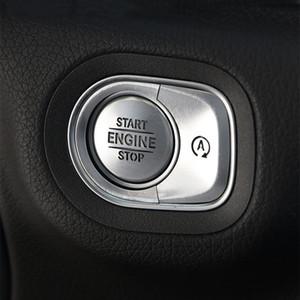 자동차 스타일링 START ENGINE STOP 버튼 장식 장식 조각 데칼 트림 메르세데스 벤츠 W167 GLE GLS G 클래스 2019년부터 2020년까지