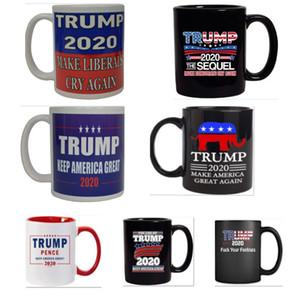 Trump Kahve Kupalar Handgrip Seramik Kupa Karikatür Donald Trump Su Bardaklar Amerika Büyük Yine Seramik Mug 9 Renkler olun HH9-2638