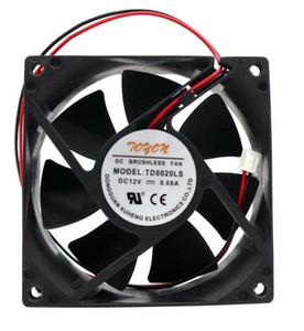 Envío gratis Nuevo TD8020LS original 12V 0.08A 8 cm 80 * 80 * 20mm 2 alambre de alambre ventilador de enfriamiento