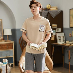men's cotton sports short-sleeved pants suit casual Clothes and pajamas pajamas loose plus-size home clothes thin style