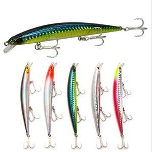 Multi Seção Sea rígido Pesca Lure 11,5 centímetros 11g Olhos 3D Falso Artificial Bait Wobbler para a Carp Pesqueiro Crankbait Bass Fishing LA13