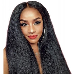 Full Lace Human Hair Wigs for Women Kinky Straight Wig Mongolian Hair Glueless Lace Front Wigs with Baby Hair