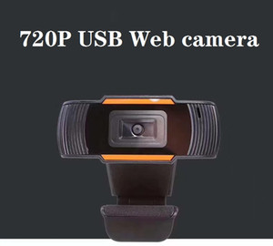 720P Webcam Webcam hd autofocus ajustável 1MP PC Camera Vídeo Web Camera Microfone incorporado para Computador Portátil