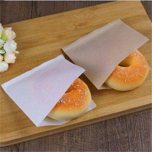 Papel kraft de embalaje bolsa de petróleo Galletas Sandwich Prueba Donuts Bolsas panadería envasado de alimentos Kraft bolsas desechables para llevar bolsa