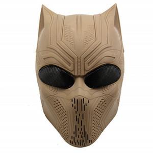 Cosplay Halloween 9 Farben Black Panther Schädel-Geist-Maske Tactical Airsoft Paintball Vollgesichtsschutzmaske SH190922