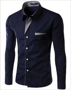 2020 New Fashion Long Sleeve Shirt Men Korean Slim Design Formal Casual Male Dress Shirt Multi-color optional