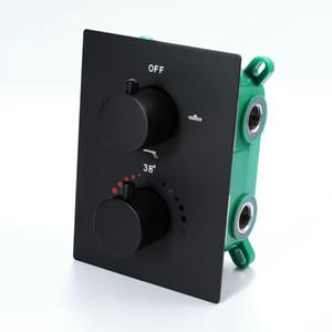 현대 온도 조절 샤워 컨트롤러 블랙 샤워 수도꼭지 벽 샤워 믹서 밸브 황동 제어 샤워 욕실 탑재