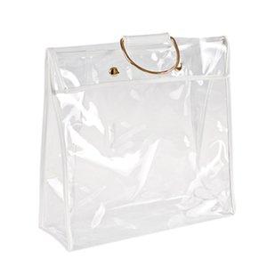 Fashion Clear Dust-Proof Bag Case Organizer Woman Transparent Handbag Protector Holder for Travel Beach