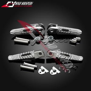clavijas de plata motocicleta Frente reposapiés traseros de los pies para GSR400 600 GSXR600 750 GSXR1000 GSX1300R GSXR 1300 Hayabusa B-king