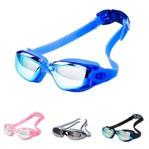 2020 Nuevo estilo de gafas de natación de alta definición Galvanizado lente impermeable anti niebla Eyewear en venta