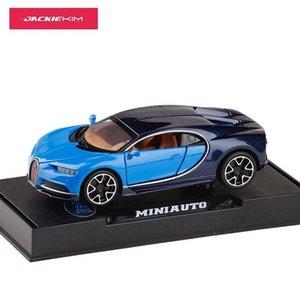 01:32 Escala de aleación de Bugatti Chiron pull back intermitente Diecast Car Model MINIAUTO automóviles de juguete juguetes para los niños del envío del regalo libre J190525